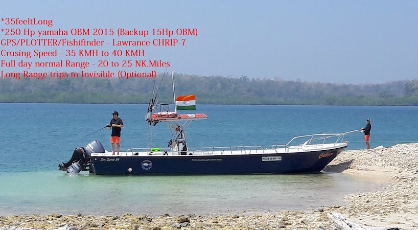 Game Fishing in Havelock Island (For Upto 4 Adults)