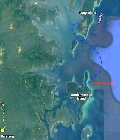 Merk Bay Beach North Passage Island